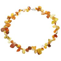 Beaded Necklaces Celtic Men S 18inch Women Girl Wedding Gifts Natural Real Gem Stones Yellow Agate Necklace