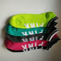 Wholesale Winter Sports Wholesale - Love VS Pink Boat Ankle Sock Women Boys Girls Kids Sports Socks Colorful Skateboard Cotton Sock
