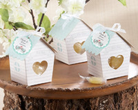 Wholesale Wedding Favor Box Tags - NEW Spring Bird House Candy Box with Matching Tag Wedding Favor