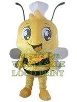 ingrosso grandi costumi della mascotte della testa-costume della mascotte di horney bee grande testa ape mascotte personalizzato formato adulto personaggio dei cartoni animati cosply costume di carnevale 3229