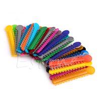 Wholesale Dental Elastic - 40 Sticks Multi Color Dental Ligature Ties Orthodontics Elastic Rubber Bands