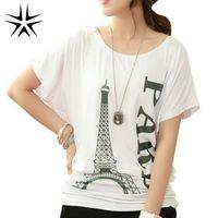 Wholesale Korean T Shirt Print Designs - Wholesale-Korean Style Woman Fashion T-shirts Plus Size L-4XL Good Quality O-neck Letter Printed Design Women Casual Short Tees