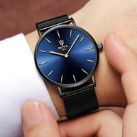 Wholesale Thin Band Digital Watch - Dita watch men's band waterproof watches men's ultra-thin students leather trend large dial quartz watch fashion mans watches