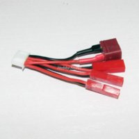 Wholesale E Flite Battery - 3 ports charger JST plug wire x2pcs For E-flite 120SR, NineEagles 328A WL V929 Lipo X3P charging Hot sale RC toy Hobby parts