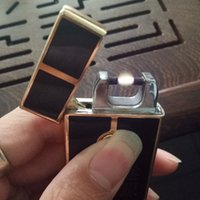 Wholesale Smoking Usb Rechargeable Electronic - Wholesale New Rechargeable USB Electronic Cigarette Lighter Windproof Brand Arc Plasma Fireball Metal Lighter For Smoking