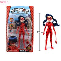 Wholesale Finish Music - 27cm With Lighting and Music PVC Miraculous Ladybug Adrien Noir Agreste Cat Action Figure Model Toys Kids Gift With Original Box