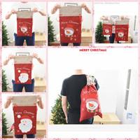 Wholesale Santa Claus Backpack - IN stock 2017 NEWEAT HOT Novo Azabu Santa Claus Snowman Christmas Gift Bag Gift Bag Gift Bag Backpack Christmas Ornament