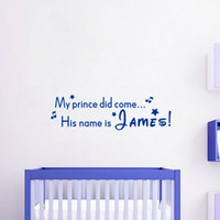 Wholesale Removable Wall Stickers Princess - Custom Prince or Princess Personalized Baby Name Creative DIY Wall Stickers Vinyl Decals for Kids Bedroom Decoration