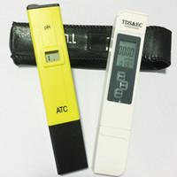 probador de tds ppm al por mayor-LCD Digital 0.1 PH Pen Medidor de pH + TDS EC Prueba de agua Filtro PPM Hidropónico Probador de piscinas