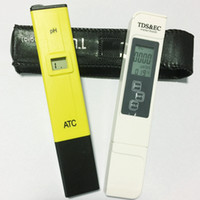caneta tds tester venda por atacado-LCD Digital PH Pen Medidor de 0.1 PH + TDS EC Teste Água PPM Filtro Hidropônico Piscina Tester