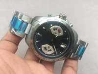 Wholesale Grand Calibre 17 - luxury Brand TG Brand Quarzy chronogr Watch Men Black Dial Platinum Skeleton Calibre 17 Analog Full Stainless Steel Belt Grand Wristwatches