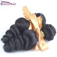 extensões de cabelo misturadas 1b venda por atacado-Desconto Mix 2 Pacotes Solto Curly Onda Tecer Cabelo Brasileiro Barato Brazillian Solto Ondulado Extensões de Cabelo Humano 1b Cutícula Completa