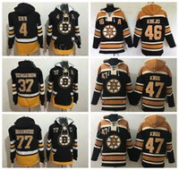 Wholesale Rays Hoodie - Man Boston Bruins 46 David Krejci Hoody Pullover 47 Torey Krug 37 Patrice Bergeron Ice Hockey Hooded Men 77 Ray Bourque Hoodies 4 Bobby Orr