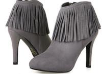 botas pretas borlas venda por atacado-Ankle boots de borla de couro de salto alto das mulheres Moda Lindo Partido Bombas sapatos de presente de Natal 9 cm preto cinza US3-7.5