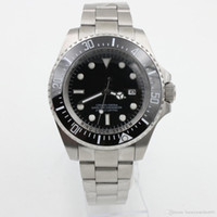 Wholesale Deep Bezel - Luxury Men's SEA-DWELLER DEEP Ceramic Bezel 44mm Stanless Steel Clasp 116660 Automatic High Quality Business Casual mens Watches