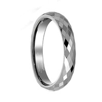 Wholesale Tungsten Couples Wedding Rings - 3 4 5 6 8mm Tungsten Carbide Engagement Bridal Rings Multi Faceted Prism Cut Wedding Bands Promise Rings for Couples Fashion Jewelry