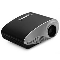Wholesale Reliable Card - Wholesale- Reliable Manual Focus H60 LCD Projector 60 Lumens Native Resolution 16:9 Aspect Ratio Supports HDMI USB VGA IR SD Card EU Plug