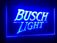 Wholesale Busch Signs - b99 BUSCH LIGHT 2 size beer bar pub club 3d signs LED Neon Light Sign