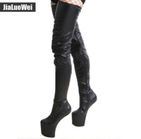 Wholesale Purple Western Boots - Free Shiping Fashion Women special boots Sexy Over-the-Knee Thigh High Boots High-heeled Ballet Dance shoes Hoof heel platform Wedges shoes