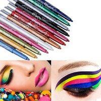 Al por mayor-12 COLORES EYE SHADOW EYELINER EYEBROW PEN PERFECT CHOICE MAKEUP PENCIL