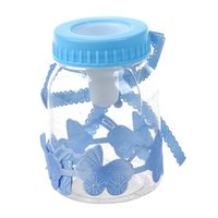50pcs / lot Baby Bottle Candy Box Rifornimenti del partito Biberon Bomboniere Bomboniere Baby Shower Battesimo Decorazione 9 * 4 cm