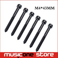 6 Pcs Floyd Rose Tremolo Bridge Selle Lock String Hexagon Screw / Clamp String Hex Screw Bolt Pour Guitare Electrique M4 * 43MM