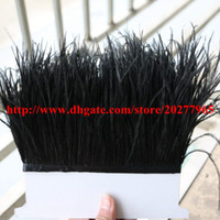 Wholesale Ostrich Feather Trimming Fringe yards cm inch Width Ostrich Feather Trimming Fringe for Dress Sewing Skrit Accessories