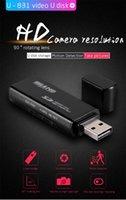 Wholesale Mini Infrared Camera Usb - Mini USB Flash Drive Hidden Camera HD 1080P Motion Activated Night Version Infrared Video Recording Portable Spy Camera