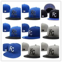 Wholesale Royal Hats For Women - Free Shipping 2017 new Kansas City Royals Fitted Hats for men women sports hip hop mens bones sun hats