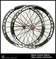 Wholesale Clincher Rims Alloy Braking Surface - New! 700C cosmic painting 50mm clincher rim Road bike 3K carbon bicycle wheelset with alloy brake surface carbon wheels
