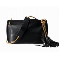 Wholesale Bag Natural Leather Handbag - Wholesale- Diolin 2016 100% Genuine Leather Bag Women Messenger Bags with Tassel Natural Cow Shoulder Bag Designer Handbags Dollar Prices