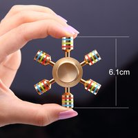Wholesale EDC Hand spinner Rainbow JX Rainbow Spinner Metal Finger Spinner Brass For Autism Adult Anti Relieve Stress Toy