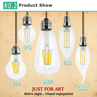 Wholesale High Power Led Candle Bulb - Dimmable led bulbs Filament bulb 4w 8w 12w 16w High Power Glass globe bulb 110V-240V lighting bulbs Retro led Edison lamp led candle lights