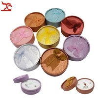 Wholesale Box Jewerly Paper - 72Pcs Round Paper Jewerly Display Castes Ring Earring Pendant Necklace Ribbon Set Storage Organizer Package Gift Box 8*3.5cm
