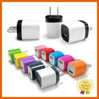 Wholesale Car Home Wholesale Uk - for iPhone 1A USB Power Charge Adapter Home Travel Cellphone Wall Charger US EU Plug for iPhone 5 6s 7 Plus Samsung