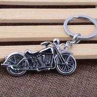 metal anahtarlık tasarımları toptan satış-Metal Alaşım motosiklet Anahtarlık Charms Aksesuar Vintage tasarım Anahtarlık Güçlü motosiklet Kolye Araba Anahtarlık fabrika fiyat Toptan