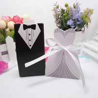 Wholesale Recycled Corrugated - Free Shipping New Arrival bride and groom box wedding boxes favour boxes wedding favors 50pairs=100pcs lot