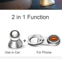 Wholesale Magnets Items - items 2 in 1 Metal Cat Finger Ring Strong Magnetic Magnet 360 Rotating Universal Car Use Phone Holder GPS Mount Desk Stand
