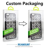 Wholesale Wholesale Iphone Blanks - New Style DIY Custom Company LOGO Transparent Blank Packaging Box for iphone 7 7plus Mobile Phone Case Cover with Inner Tray