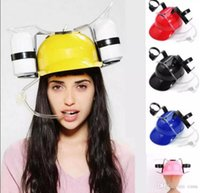Wholesale drinking hat beer for sale - Group buy 120Pcs Straw Helmet Drinking Hat Beer Soda Dual Straw Drinking Hat Christmas Party Supplies Beverage Holder Party Hats