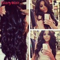Atacado Glary Hair Products Cheap peruana Brazilian Malaysian Virgin Hair Bundles Straight Body Wave Extensões de cabelo humano Curly Curly 8a