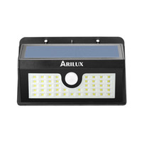 Wholesale Ip65 Led 3w - Wholesale- ARILUX AL-SL07 Waterproof IP65 Wireless Solar Powered 3W 45 LED Solar Light Outdoor Garden Light PIR Motion Sensor Wall Lamp
