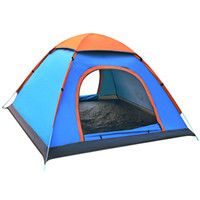 Wholesale Camping Tent Awning - Auto Camping Instant Tent Outdoor Hand Tossed Lounge Tent Blue Bright Green Colors Fashion Design For Camping 3-4 Person