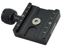 Wholesale Swiss Adapter - QR-50 Adapter Plate Square Clamp with Gradienter for Quick Release Plate for Tripod Ball Head Arca Swiss RRS Wimberley KZ-42