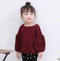 Wholesale Girls Princess Long Sleeve Shirt - Baby girls princess tops fashion kids puff sleeve pullover 2017 autumn new toddler children T-shirt Ins style kids blouses T5132