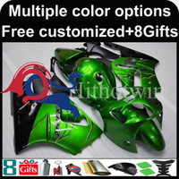 Wholesale Tank Covers For Motorcycles - Tank cover+Injection mold green black Body motorcycle cowl for Kawasaki ZX12R 00-01 2000 2001 ZX12R 00 01 2000-2001 ABS Plastic Fairing