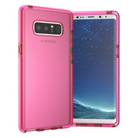 Wholesale Iphone Dual Mesh Case - For Samsung Note 8 Case Hybrid Dual Color Clear Soft TPU Mesh Drop Shockproof Back Cover Case For Samsung Galaxy Note 8