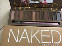 Wholesale Naked Eye Make Up - 2017 12color Professional Makeup Naked Eyeshadow Palettes Smoky Eye Shadow Palette with Make up Brush Case Cosmetic free shipping