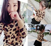 Wholesale Leopard Knit Sweater - Mother dauther son sweater fashion girl leopard grain princess pullover womens knitting long sleeve jumper 2017 autumn family clothing T4515