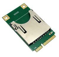 Wholesale Pci Memory Cards - 10pcs   lots Mini PCI-E Express to SD SDHC MMC Memory Card Converter Reader ,By Fedex UPS DHL